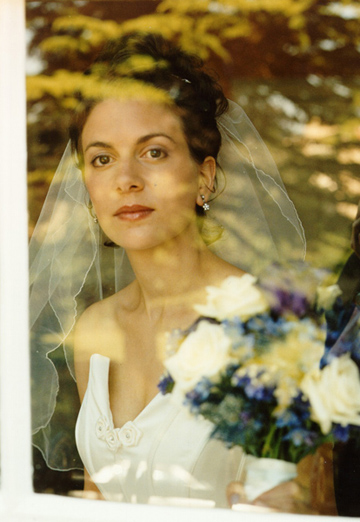 Wedding - Bride in the window
